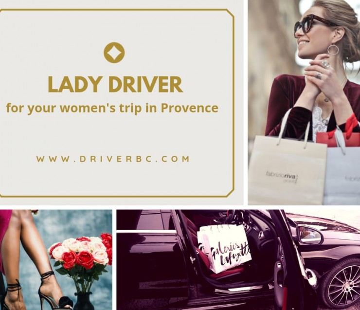 Lady driver for your women's trip in Provence !