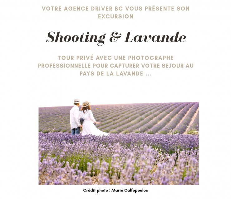 Professional Shooting in the lavender fields